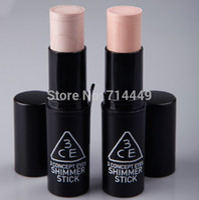 Cheap 100% Guaranteed Korean Shimmer Stick Face Slimm Brand 3CE Stylenanda Makeup Shimmer Stick Face Neck Makeup Highlighter 2pcs lot