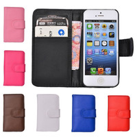 For Apple iPhone Leather  For iphone 6 Case Wallet Leather Flip Case Cover With Card Slots For iphone 6 Plus 5 5S 4 4S Galaxy S5 S4 S3 Note 3 Note 2