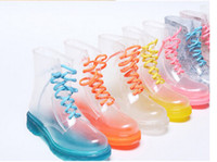 Wholesale The new PVC lady crystal clear Martin boots boots water shoes