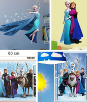 Wholesale 2014 hot sales Frozen Movie Cartoon Wall Stickers Kids Room Nursery Wall Decals mix styles pcsa