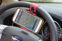 Wholesale Brand New Steering Wheel Cradle Holder SMART Clip Car Bike Mount for Mobile Cell Phone GPS