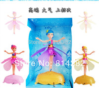 Cheap OP-2pcs lot Toys Flying Fairy Infrared Induction Control Fairies Doll Fashion Angel Flying Your Hand Doll Free Shipping 30*13*19cm