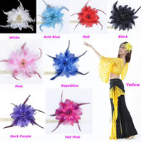 Cheap Free Shipping 9pcs lot Belly Dancing Tribal Party Wedding Costume Headdress Head Flower Pin Brooch Clip