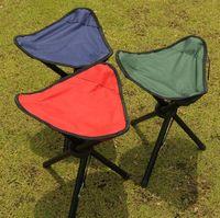 Wholesale Folding Outdoor Camping Hiking Fishing Picnic Garden BBQ Stool Tripod Three feet Chair Seat
