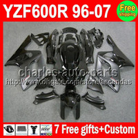 7gifts For YAMAHA YZF600R Thundercat 96- 07 Flat black gloss ...