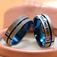 wedding ring set - Stainless Steel Wedding Bands Couple Rings Korean Jewelry Lovers his and hers promise ring sets For men and women