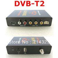 Cheap Mobile Digital Car DVB-T2 H.264 MPEG4 HD 1080P External Auto Tuner 40Km h Digital TV Receiver Box Set Top DVB-T2 Free Shipping
