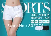 Cheap 2013 Women White Denim Wahsed Ripped Beach Short Hot Clubwear Short Straight Pants Quality Guarantee Size 25-31 #2054