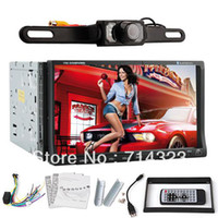 Wholesale Free Camera universal Din inch Car DVD player with GPS optional audio Radio stereo FM AM USB SD Bluetooth TV touch screen