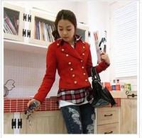 Wholesale Korean version of the new women s woolen jacket lapel jacket British style short paragraph coat Spring Special