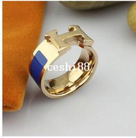 Wholesale 18K Rose Gold Plated Paved Brand Design Trendy Finger wedding Rings for women color RG001