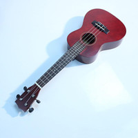 Wholesale 23 quot Acoustic Soprano Hawaii Rosewood guitar Ukulele Musical Instrument Wine Red