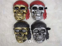 Wholesale new Halloween party props grimace plastic devil horror villain funny pirate captain skeleton mask