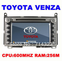 Wholesale quot Car DVD Stereo Player GPS for TOYOTA VENZA In dash Car Navigation System with Radio Bluetooth IPOD RDS TV Tuner