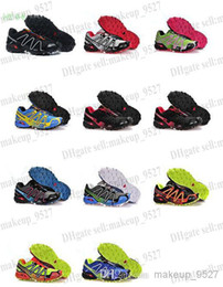 Wholesale Men s Salomon Speedcross Outlet Mens Hiking Running Shoes Barefoot Solomon Sports Shoes Zapatillas Newest Style Pure Black Many Colorways