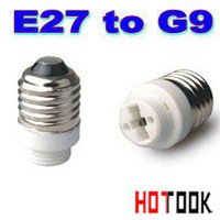 Wholesale Dropshipping e27 ceramic lamp socket E27 to G9 LED Base Adapter Socket Converter Ceramics for Light Lamp Bulbs x