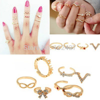 artilady - Artilady Fashion Stacking Midi Rings Infinite Love Deisgn Women Jewelry