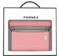 Wholesale For Apple iPhone S S Smart Phone Case Card Coin Wallet Smart Purse chain bag