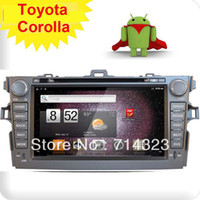Cheap New 2Din In Dash Car Radio CD DVD MP3 Player GPS Audio Aux Pure Fastest Android 2.3 WIFI 3G For Toyota Corolla 2008-2010