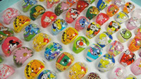 kids rings - 50Pcs Children Kids Girls Cartoon Rings lovely superman animation cartoon child s Resin rings jewelry jewellery