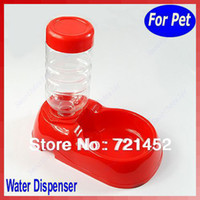 Cheap Free Shipping Pet Dog Cat Automatic Water Dispenser Food Dish Bowl Feeder New
