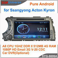 Wholesale S150 Pure Android Car DVD Player for Ssangyong Acton Kyron Car Audio GPS Radio with Navitel Russia map P A8 G CPU DDR