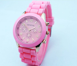 Hot sale New Shadow Style Geneva Watch Rubber Candy Jelly Fashion Men Wamen Silicone Quartz Watches 50pcs