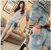 Cheap Vintage 2013 Hotsale Sexy Side Slit Denim Hot Shorts, Ripped Short Frayed Hole Plus Size Pants