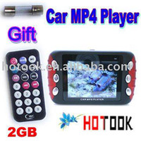 "Cheap Wholesale 2.4"" screen 2GB Car audio Car MP3 MP4 MP5 Player with car charger x 10 PCS - - ship via express"