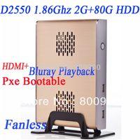 Wholesale D2550 Intel Dual Core Four thread thin client atom mini pc dual core blu ray P blu ray thin clients mini pc slim zero client