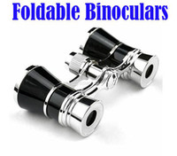 Wholesale 3 x Beatiful Classic Foldable Binoculars Telescopes Glasses For Theater Opera Drop Shipping