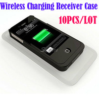 Cheap Qi Wireless Power Charger Charging Receiver Case Cover Sleeve for iPhone 4 4S Free Express 10pcs lot