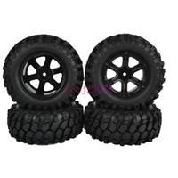 Cheap 4PCS SET 95mm RC 1 10 Off-Road Car Beach Rock Crawler Tires Tyre &Wheel Rim 76B-7006