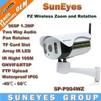 Wholesale SunEyes SP P904WZ P PTZ Wireless Wifi IP Camera outdoor MP HD with TF Micro SD Slot Two Way Audio Pan Rotation Array IR