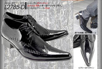 Wholesale High grade pointed heighten men dress shoes black white red wine dinner party man leather shoes