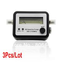 Wholesale 3Pcs Satellite Signal Finder Meter Dish FTA HD Monitors Signal Strength Meter MHz TK1042