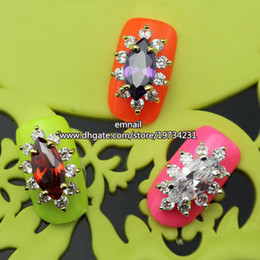 Wholesale 10 Womens Zircon Alloy Bow D Nail Art Tips Stickers Decoration Jewelry DIY decoration