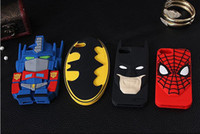 3D Cute Transformers Batman Spiderman Hero Silicone Soft Cas...