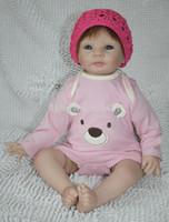 "Cheap OP-New design 22"" newborn baby doll soft silicone vinyl reborn baby doll lifelike Handmade doll"