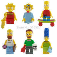 Wholesale The Simpsons Figures Classic Toys Building Blocks Sets Model Bricks Minifigures Toys For Children