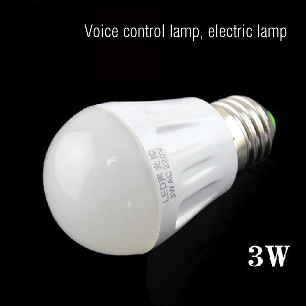 Led night lamp manufacturers - Freeshipping Bulb Shape Voice Control Lamp Manufacturers Led Sound Electric Light Small Night Lamp Will Be