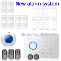 Wholesale Chuango G5 MHZ GSM SMS Quad band touch keypad Wireless Home Security Burglar Alarm System Access Control DHL