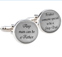Wholesale Personalized Cuff Links Anyman can be a Father It takes someone special to be a Step Dad