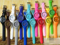 Cheap 50pcs Hot fashion brand watch silicone watch Japan movement girls table Children's watch