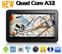 Wholesale 2014 New Arrival inch Allwinner A33 Quad Core Tablet PC GB GB Dual Camera Bluetooth Android Cheap Tablet with