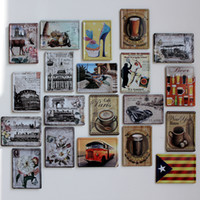 Cheap Small Metal Painting Wall Stickers Fashion Poster Painting Retro Vintage Wall Art Metal Signs For Bar Decor 5 Pcs Lot 11*8cm