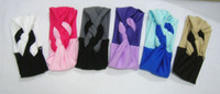 Wholesale Twist knot headband stretch lycra turban ealstic hair band headbands two bright color style