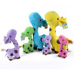 Wholesale Hot seling Fashion PC Graceful bolster Cute soft Baby Children plush toys giraffe doll Party colors