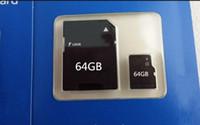 Tarjeta de memoria SD TF DHL 64GB Clase 10 micro con el adaptador mini paquete al por menor de destello tarjetas SD