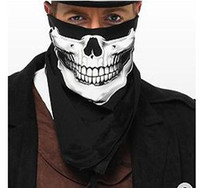 Wholesale HIP POP STYLE SKULL ASSORTED COTTON FULL HEAD WRAP BANDANA MIXED COLORS